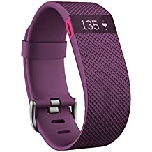 Fitbit Charge HR Wireless Activity Wristband, Plum, Small