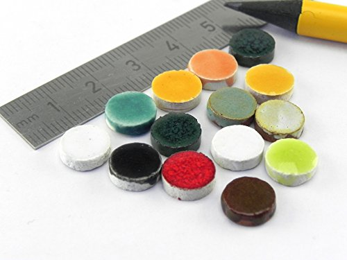 Mosaic-Minis Round Stones Ø10mmx3mm,Mix Varied 365 Micro ()