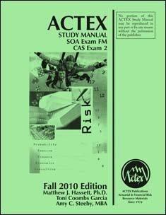 Actex Study Man. for SOA Examination FM and Cas...