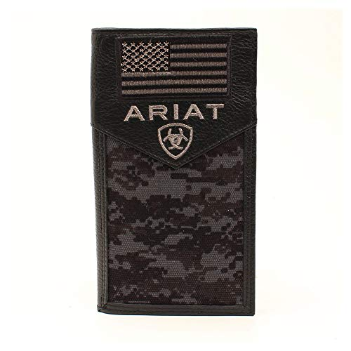 Ariat Men's Sport Patriot Rodeo Wallet Black One Size