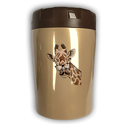 Giraffe Thermos Cup,Travel Insulation,Kettle Stew Pot,Outdoor Tableware,Stew Mug Burning Bottle,Vacuum Insulated Food Jar Chocolate (Halloween Electric Eye Lyrics)