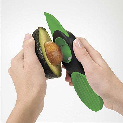 Show 3 In 1 Avocado Slicer Peeler Skinner Pitters Corers Green price