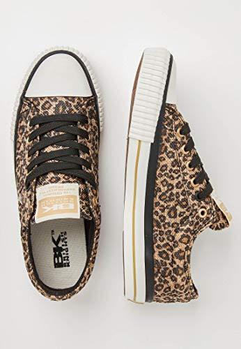 Halbschuh Master British LO Damen Leopard Knights Sneaker qIwHwp75