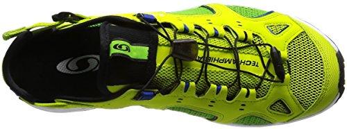 Salomon Techamphibian 3, Zapatillas de Trail Running para Hombre Verde (Lime Punch./Green Flash/Surf The Web)