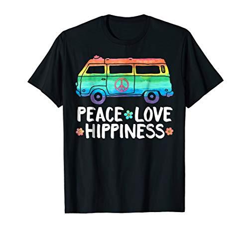Funny Peace Love Hippiness Peace Van Hippie Bus Rainbow -