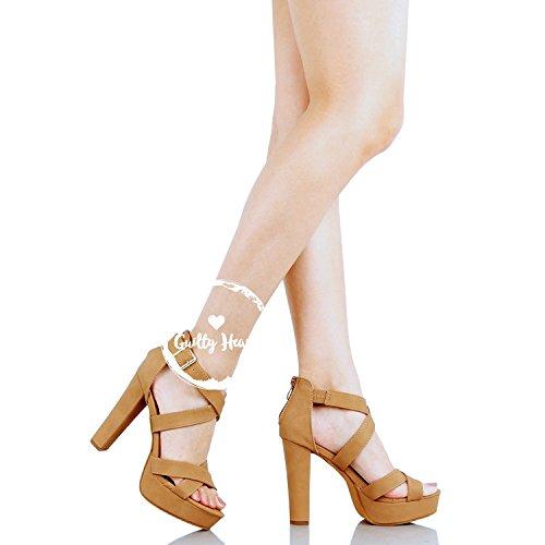 Della Tallone Piattaforma Ritaglio Pattini Colpevole Modo Tanv5 Cinghia Gladiatore Pu Della Di Caviglia Della Sandali 8P5xqH