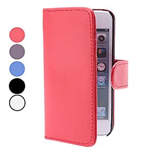 GHK - PU leather case with the iPhone 5 seconds (various colors) card slot and purse , Red