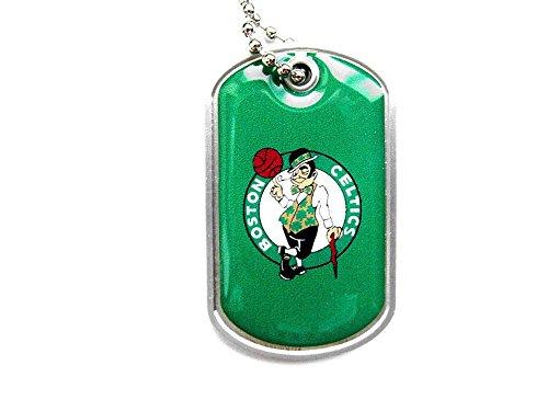 aminco Boston Celtics Dog Tag Domed Necklace Charm Chain Nba