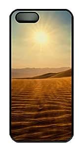 iPhone 5 5S Case Desert views PC Custom iPhone 5 5S Case Cover Black