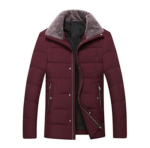Veste Doudoune Épaississement D'affaires Homme D'hiver Hommes Rouge Metro Mince Revers couleur Réchauffer Casual Taille nSYrY8wx1q