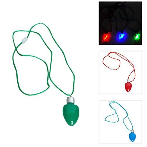 Set of 12 Flashing Light-up Blinking Christmas Bulb