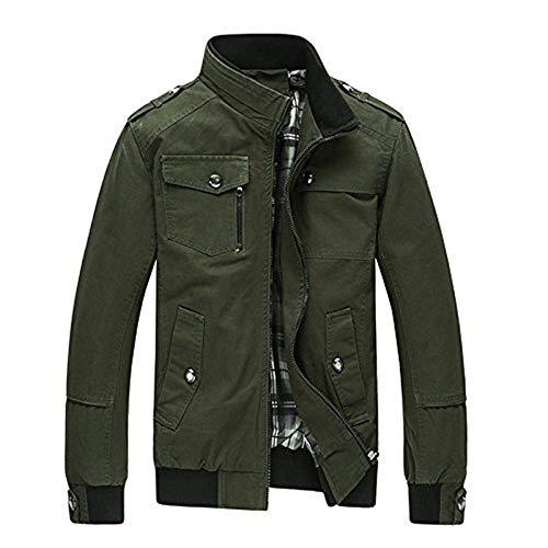 Giacche Giacche Giacche Pure Jacket BoBo BoBo BoBo BoBo With Outerwear Grün Coat Autunno Giacche Mens Cotton Zipper 88 Armee Coat Clothes ffq4S7