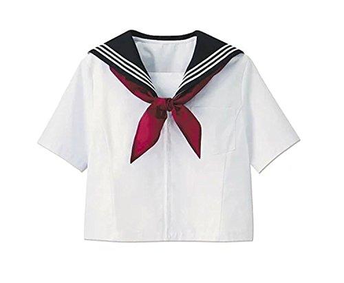 ROLECOS Japanese School Girl Shirt Short Sleeve Sailor Uniform Shirt Short Sleeve 8