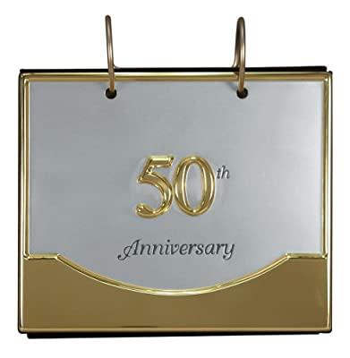 "Malden International Designs Wedding ""50th Anniversary"" Flip Album Two Tone Picture Frame"