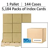 Pallet of 5,184 Packs of Index Cards, 3''x5'', 100 sheets of White 100# Index Per Pack, Ruled On One Side, 144 Cases of 36 packs (74804)