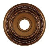 Elk M1001AB Campione Ceiling Medallion, 16-Inch, Antique Bronze Finish