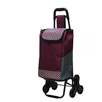 Amazon.com: Carro de compras plegable, con ruedas para subir ...