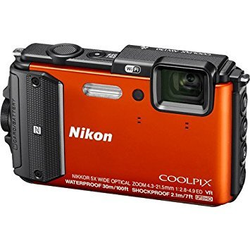 Nikon Coolpix AW130 16.0-Megapixel Waterproof Digital Camera with 5X...