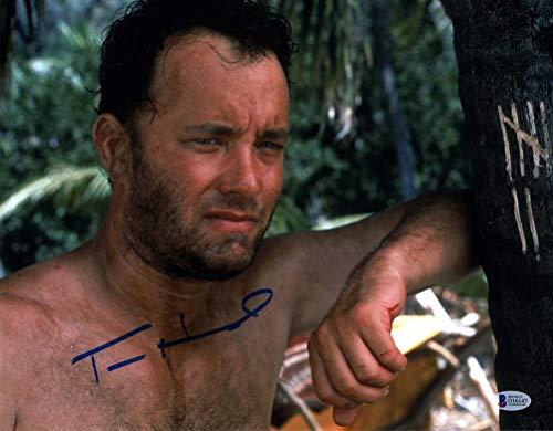 Tom Hanks Castaway Signed 11x14 Photo Certified Authentic BAS COA