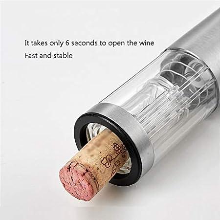 Sacacorchos Abrebotellas eléctrico de vino Abrebotellas recargable de acero inoxidable Abrebotellas eléctrico profesional con línea de carga USB Cortador de papel de aluminio (rojo) Abrebotella