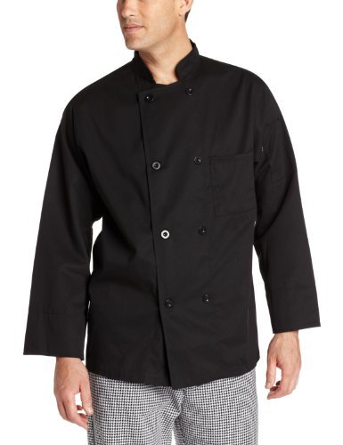 8 Button Chef Coat - Dickies Men's The 8 Button Chef Coat, Black, X-Small Size: X-Small Color: Black Model: DC118 (Home & Kitchen)