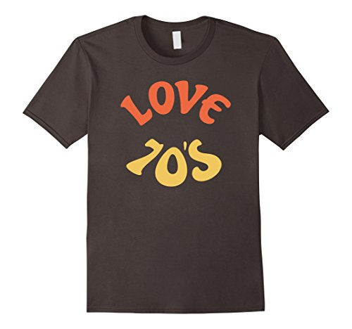 Mens Disco I Love 70's Ball Retro Music T-shirt Vintage Tees Medium Asphalt