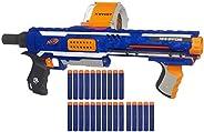 Nerf Rampage N-Strike Elite Toy Blaster with 25 Dart Drum Slam Fire & 25 Official Elite Foam Darts for Kid