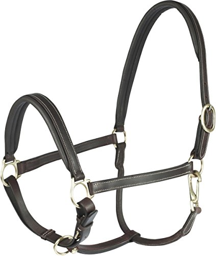HORZE Largo Leather Halter Horse Dk Brown