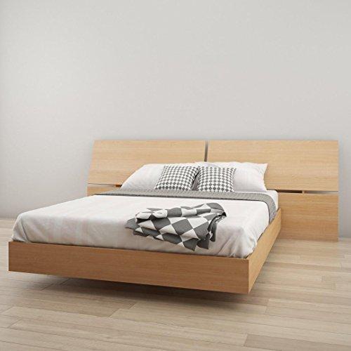 Nexera Queen Size Platform Bed Bundle 400732 Natural Maple