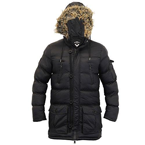 Inverno Black Runcorn Imbottitura Bubble Pelliccia Soul Camouglafe Cappuccio Militare Uomo Con Cappotto Brave Parka 7TvwqxOP