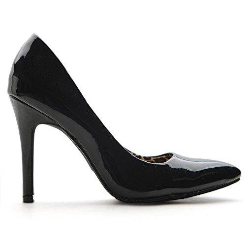 Pump Black Leopard Dress High Ollio Print Color Elegant Multi D'Orsay Shoe Inside Women's Heel q1O7w6