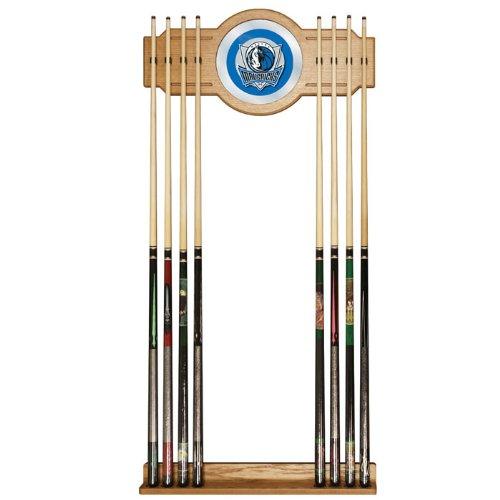 NBA Dallas Mavericks Billiard Cue Rack with Mirror by Trademark Gameroom