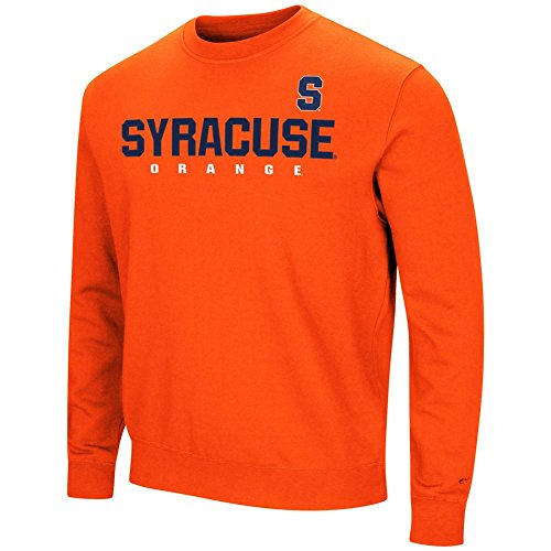 Colosseum Syracuse University Sweatshirt Playbook Crew Neck Fleece (XXX-Large)