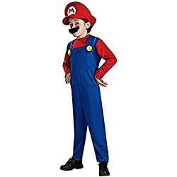 Funny Cosplay Costume Super Mario Brothers Mario Luigi Costume Fancy Dress Up Party Costume Cute Costume Children Red Large