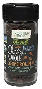 Frontier Organic Spices, Whole Cloves, 1.38 Ounce