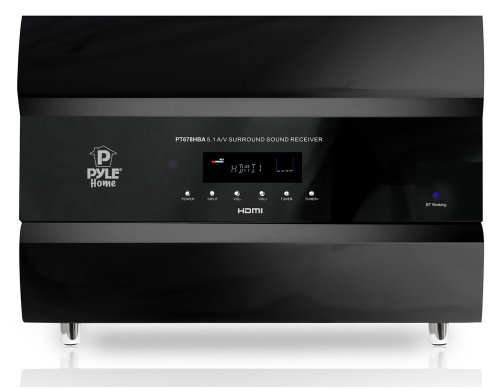 Find a Pyle PT678HBA Bluetooth 5.1 Channel HDMI Home Theater System, 400 Watt, AM/FM Tuner, Subwoofer & Speakers