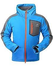SAENSHING Men's Softshell Jacket Fleece Lined Waterproof Outdoor Rain Coat Hiking Clothes