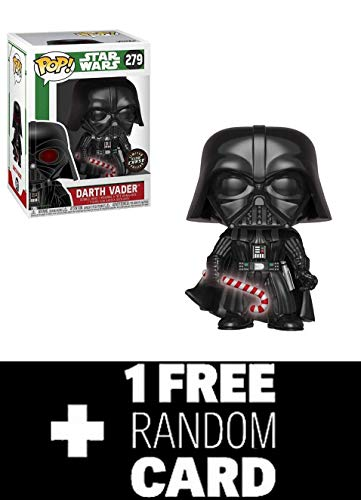 POP Funko Star Wars: Holiday Darth Vader Candy Cane (Chase) + 1 Star Wars Trading Card