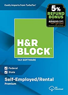 H&R Block Tax Software Premium 2018 with 5% Refund Bonus Offer [Amazon Exclusive] [PC Download] (B07HJ18LXW) | Amazon Products