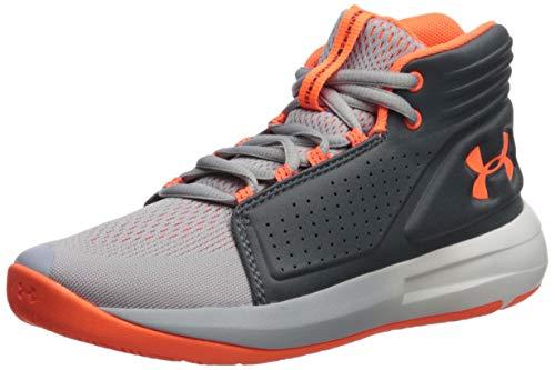 Under Armour Boys' Grade School Torch Mid Basketball Shoe, Mod Gray(102)/Pitch Gray, 6.5 M US Big Kid