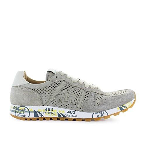 Premiata Mannen Eric3140 Grijs Suède Sneakers