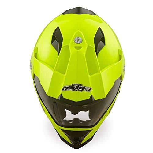 Amazon.es: Dual Sport Aventura Enduro Casco de Motocross NENKI NK NK-313, Ece Aprobado (Amarillo, Tamaño M)