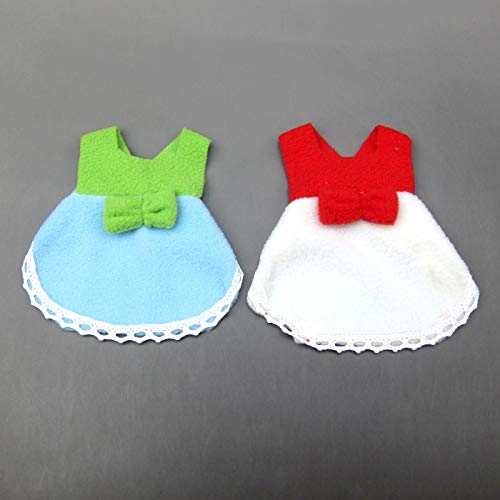 Alfie Pet by Petoga Couture - Jayden 2-Piece Set Skirt for Small Animals Like Mouse, Chinchilla, Rat, Gerbil and Dwarf Hamster - Color: White and Blue, Size: Large