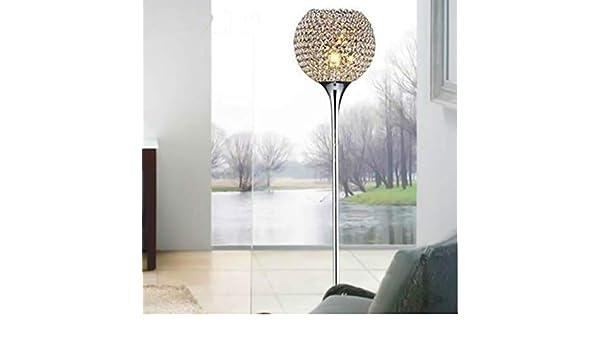 DJSMLDD Lámpara de pie Lámpara de pie de Cristal Lámpara de pie Moderna Luz de Piso LED E27 Iluminación de Varilla 1.6 m Alta Sala de Estar Dormitorio Estudio Decoración Luz: Amazon.es: