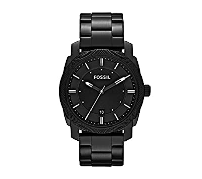 Fossil Men's 42mm Machine Black IP Stainless Steel Dress Watch from Fossil