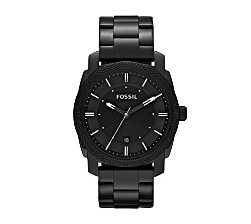 Fossil-Machine-Black-Ion-Plated-with-Black-Dial-Mens-Dress-Watch
