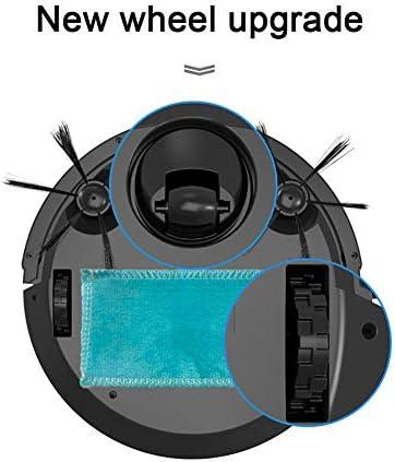 Robot Aspirateur Laveur,Robot Aspirateur Avec 600ML Forte Puissance D\'aspiration 3 En 1 Avec Bac À Poussières Jusqu\'à 100 Mins Pour Sols Durs Poils Tapis Et D\'animaux,Noir