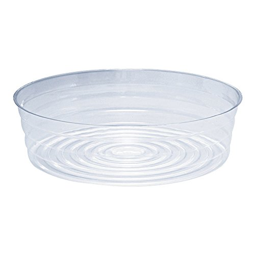 Round Clear Plastic Pot (Clear Plastic Pot Saucer for Garden Pots and Bags (Top Diameter 12in.))