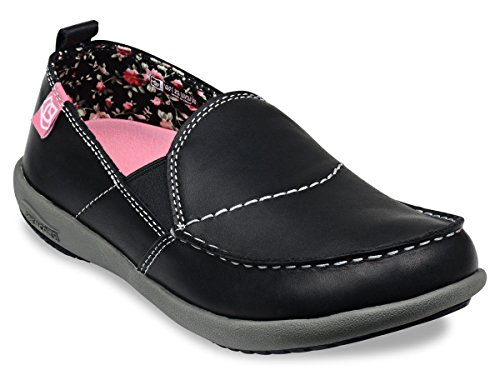 Spenco Siesta Leather - Womens Supportive Shoe Black - 5