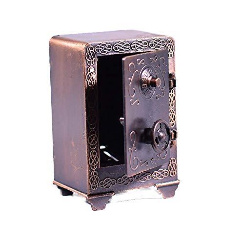 Metal Rare Die Cast Bronze Sharpener Money Safe Box Figurine - 1:24 Scale Miniature - Safe Box Miniature - Bronze Antique Finished ()
